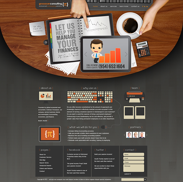 Financial Consulting Website Design