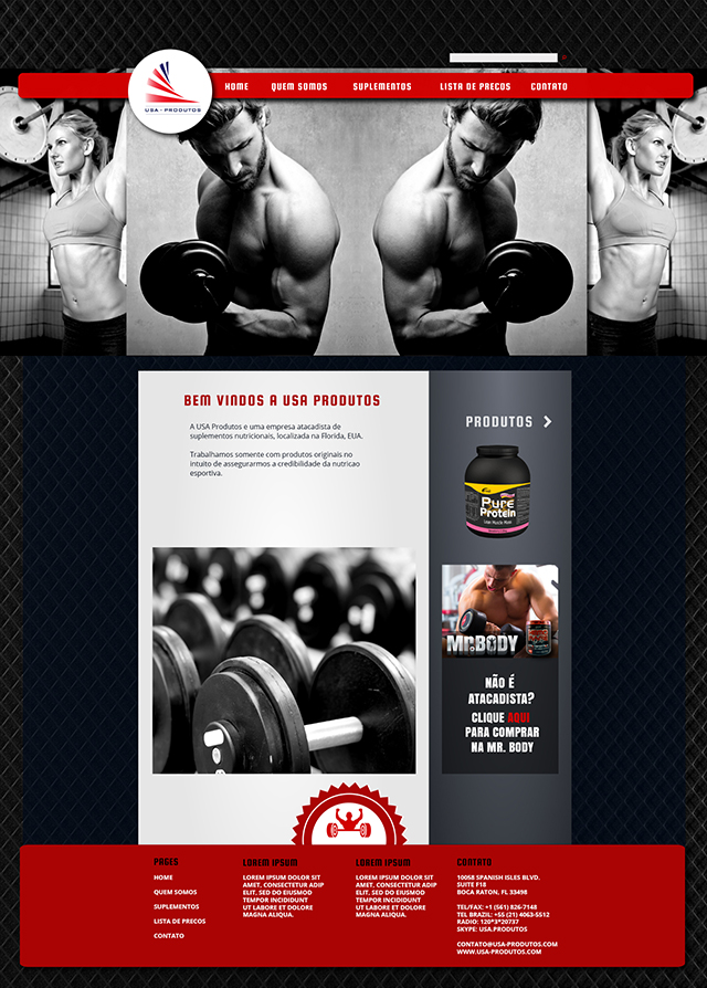 Fitness Products Website Design