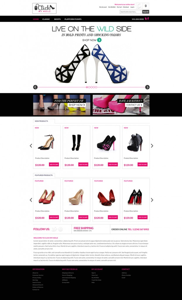 Fashion and Beauty Industry Website Design – Contagem, Florida