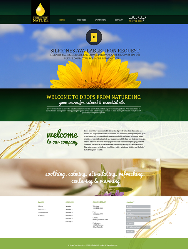 Drops From Nature Website Design & Video