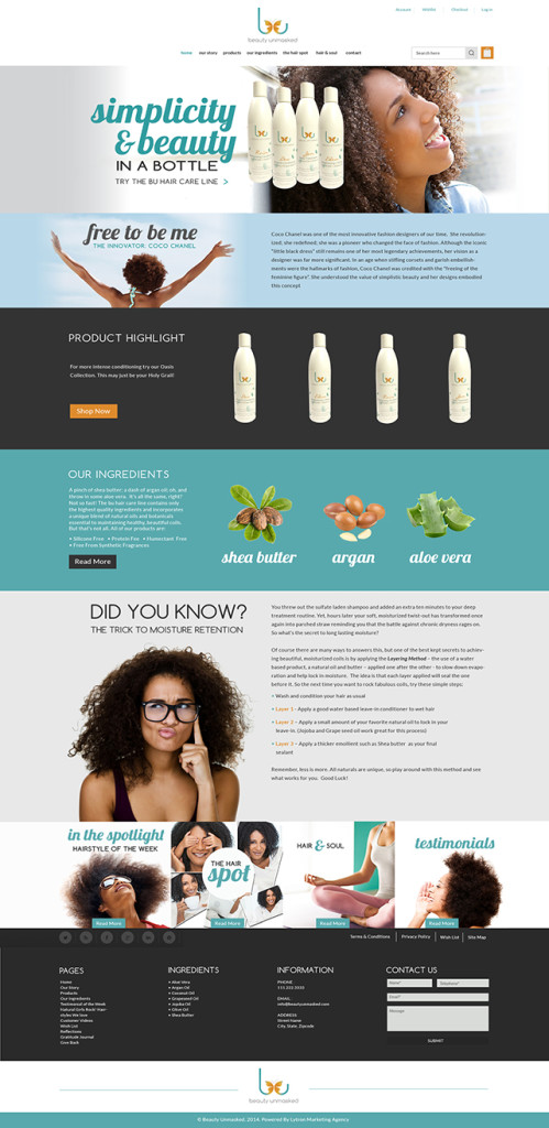 Hair Product Company Website Design & Video