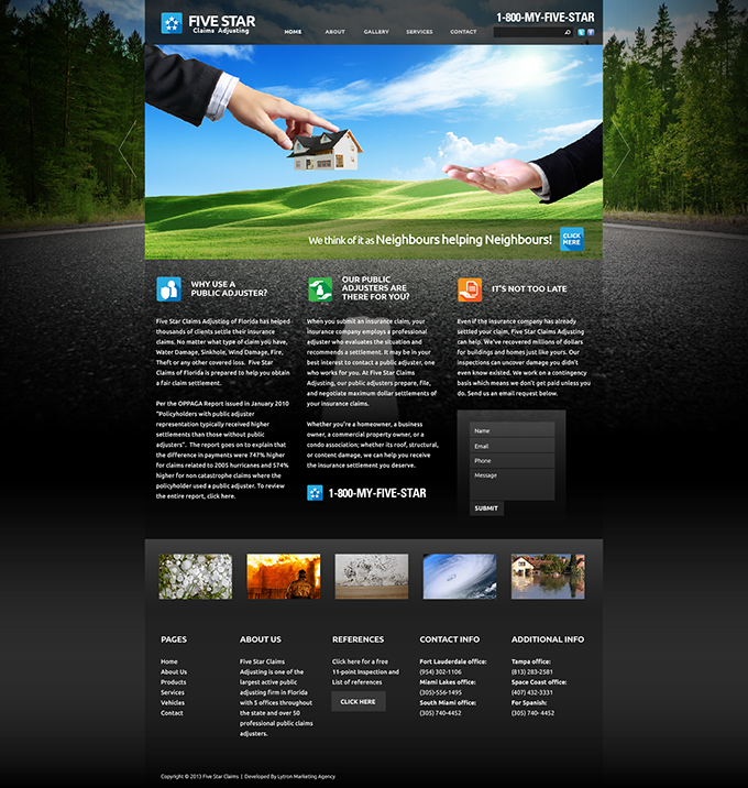 Insurance Claims Company Website Design & Video