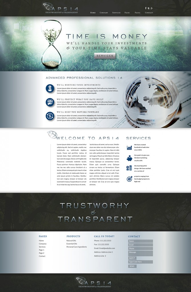 Investment Company Website Design & Video