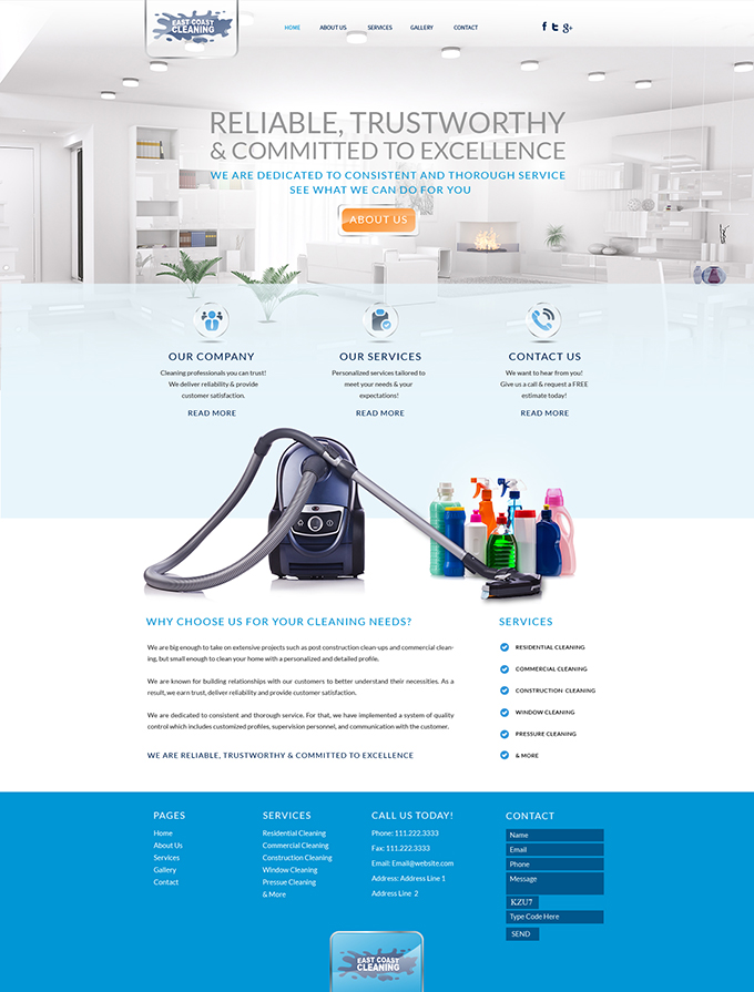 Cleaning Company Website Design & Video