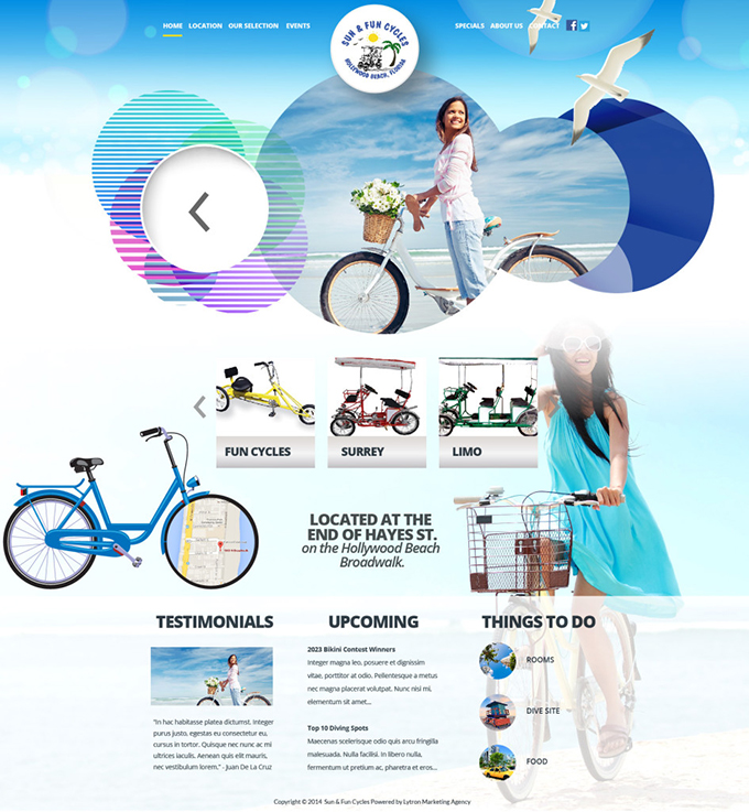Bicycle Tour Company Website Design & Video