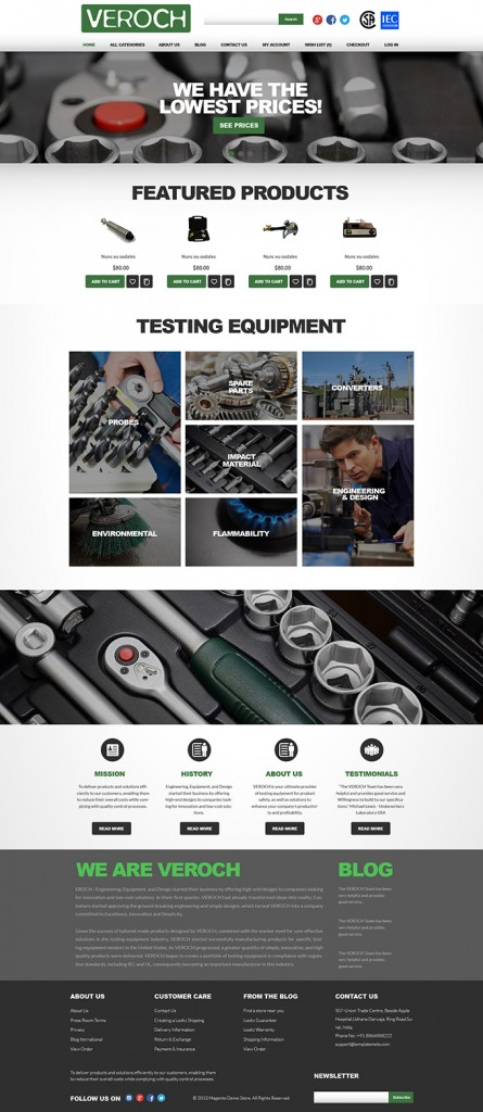 Safety Testing Equipment Company Website Design & Video