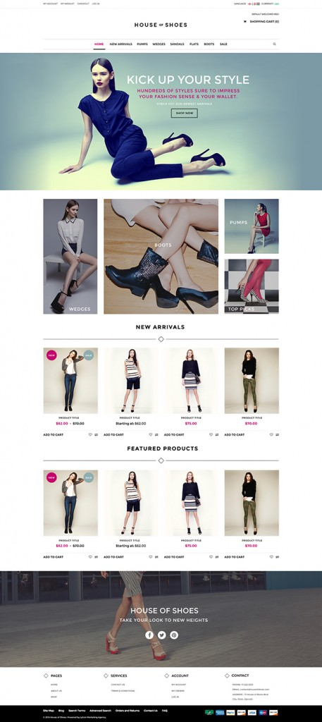 Shoe Company Website Design & Commentary