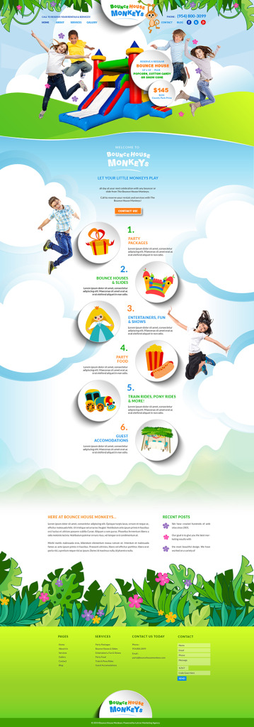 Bounce House Party Rental Website Design & Video